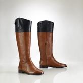 Ralph Lauren Vachetta Two-Toned Riding Boot