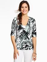 Talbots Kelly Cardigan-Tropical Palms