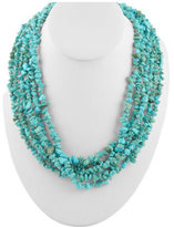 Barse Women's Long Turquoise Magnesite Chip Necklace NECK606TMAG