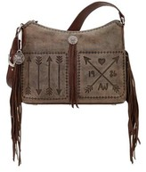 American West Women's Cross My Heart Zip-Top Shoulder Bag
