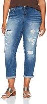 UNIONBAY Women's Plus Size Margot Destructed Skinny Ankle Jean