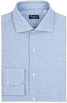 Finamore Men's Striped Slub-Weave Shirt-LIGHT BLUE