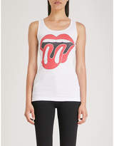 The Rolling Stones ribbed cotton-jersey top