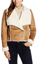 Tom Tailor Women's Sherling jacket Long Sleeve Coat