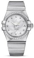 Omega Women's Constellation Diamond 35mm Steel Bracelet & Case Automatic Analog Watch 123.15.35.20.52.001