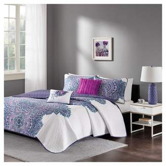 Nobrand No Brand Purple Lolita Printed Quilt Set Purple