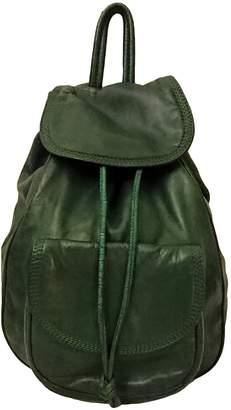 Loewe Backpack Green Leather Backpacks