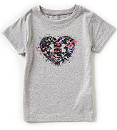 Under Armour Little Girls 2T-6X Splatter Heart Short-Sleeve Tee