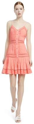 Alice + Olivia Marci Embroidered Neon Dress