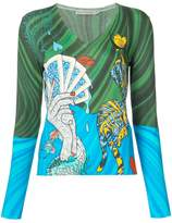 Mary Katrantzou Bowles Surreal print top