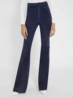 Alice + Olivia Suede Bell Pant