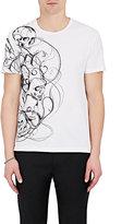 Alexander McQueen Men's Skull-Sketch-Graphic Cotton T-Shirt-WHITE