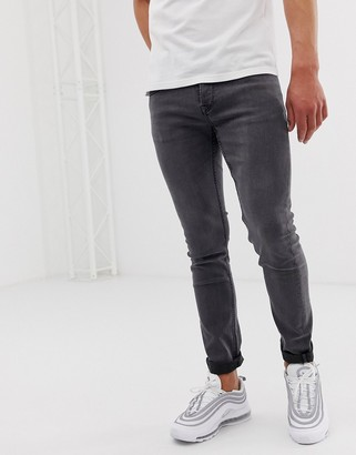 ONLY & SONS slim fit jeans in gray