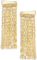 INC International Concepts Gold-Tone Chain Fringe Linear Drop Earrings, Only at Macy's