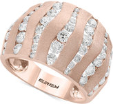 Effy Pavé Rose by Diamond Wavy Statement Ring (1-5/8 Ct. t.w.) in 14k Rose Gold