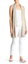 Joseph A Space Dye Open Front Sweater Vest