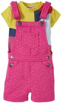 Appaman Circle Tee W/Pixley Overall Set (Baby) - Beet Root - 12-18 Months