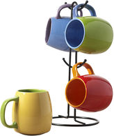 Tabletops Unlimited Tabletops Gallery 5-pc. Two-Tone Mug and Tree Set
