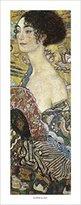 Gustav 1art1 Posters Klimt Poster Art Print - Segnora Con Ventaglio (20 x 8 inches)