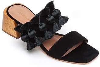 Bernardo Suede Slip-On Sandals - Bella