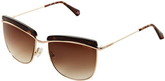 Balmain BL2521 Black & Gold-Tone Square Aviator Sunglasses