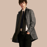 Burberry Reversible Prince Of Wales Wool Car Coat , Size: 46, Grey
