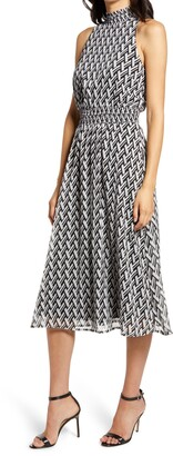 Sam Edelman Geo Smock Sleeveless Dress