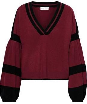 Amanda Wakeley Striped Brushed-cashmere Sweater
