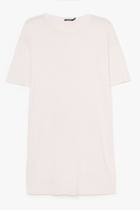 Nasty Gal Womens Easy Does It Plus Tee Dress - Sand