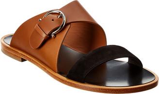 Salvatore Ferragamo Gancini Leather & Suede Sandal
