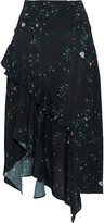 Thumbnail for your product : Preen Line Electra Asymmetric Floral-print Crepe De Chine Skirt
