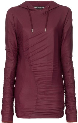 Y/Project Ruched Detail Hoodie