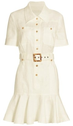 Zimmermann Poppy Belted Mini Dress