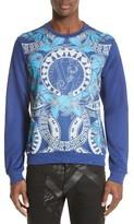 Versace Men's Hawaii Print Scuba Sweatshirt