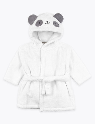 Marks and Spencer Cotton Panda Hooded Robe (0-3 Yrs)