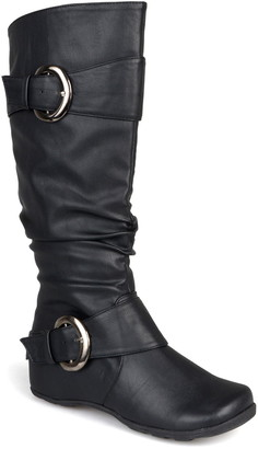 Journee Collection Paris Buckle Mid-Calf Boot - Extra Wide Calf