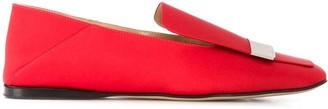 Sergio Rossi SR1 square-toe loafers