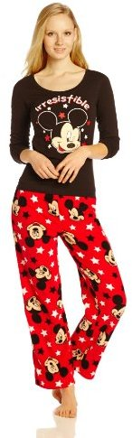 Briefly Stated Disney Junior's Mickey Mouse Top and Printed Bottom Pajama Set