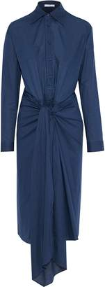 Tome Tie-front Cotton-poplin Midi Shirt Dress