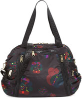 Cynthia Rowley Alex Printed Nylon Duffle Bag, Black
