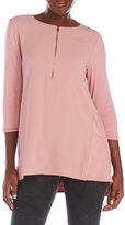 Vince Camuto Knit Tunic with Crepe Front