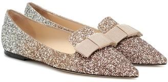Jimmy Choo Gala glitter ballet flats