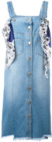 SteveJ & YoniP Steve J & Yoni P - scarf detail denim dress - women - Cotton - XS