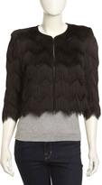 BCBGMAXAZRIA Jaxon Feathery Fringe Jacket