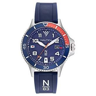 Nautica N83 Men's NAPCBF916 Cocoa Beach Silicone Strap Watch