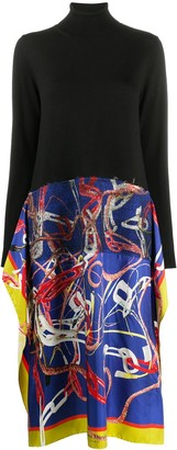 Maison Margiela Graphic-Print Roll Neck Dress