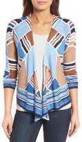 Nic+Zoe Seaglass Linen Blend Convertible Linen Blend Cardigan (Regular & Petite)