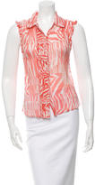 Christian Lacroix Printed Silk Top