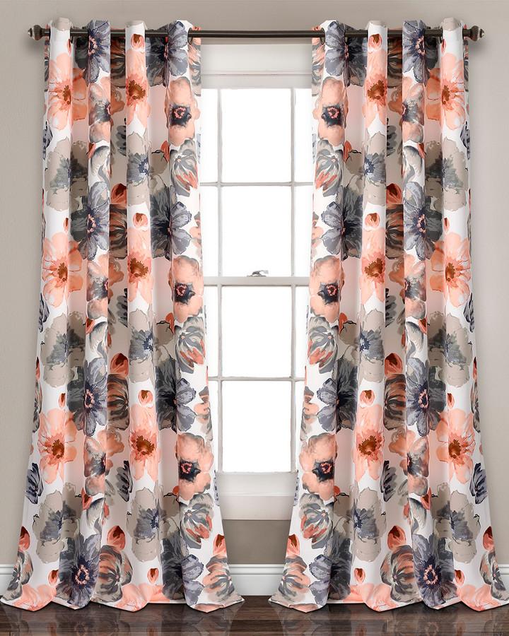 floral window curtains shopstyle rh shopstyle com