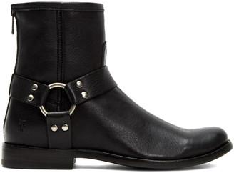 Frye Women's Casual boots BLACK - Black Phillip Harness Leather Short Boot - Women